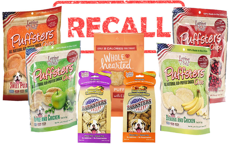 Loving Pets Dog Treats Recall
