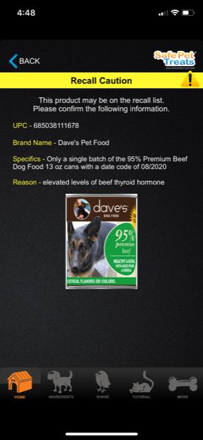 Dog Food Recall List 2020.Dave S Pet Food Recall June 2018 Safe Pet Treats Pet