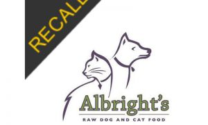 Albright's Raw Dog Food Recall | November 2020